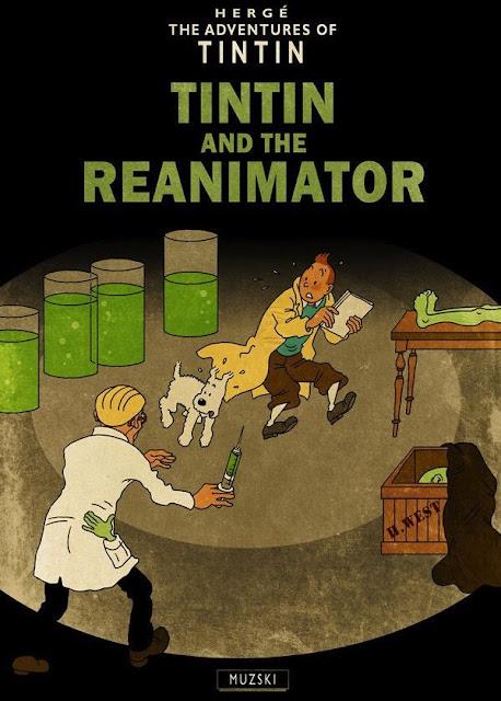 Meme de humor de Tintín y Lovecraft