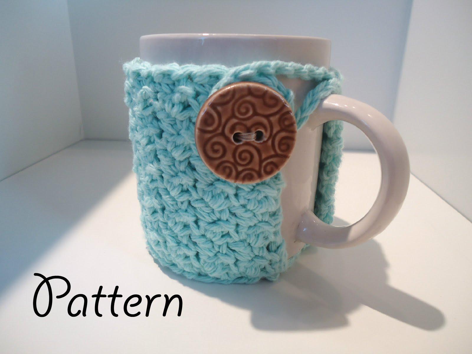lovelycraftymama: Crochet Textured Coffee Mug Cozy Pattern
