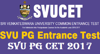 Image result for SVUCET-2017 Notification, PG Entrance Test SV University Tirupati