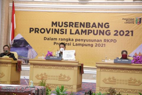 Gubernur Lampung Menghadiri Musrenbang Penyusunan RKPD 2021
