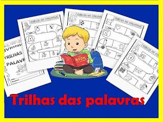 Atividades de alfabetização trilhas das palavras
