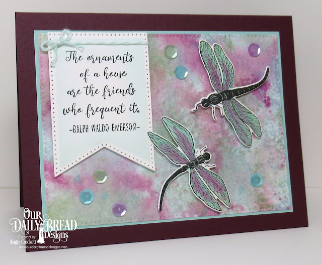 ODBD Friend to Friend Stamp/Die Duos, ODBD Custom Large Banners Dies, ODBD Custom Pierced Rectangles Dies, Card Designer Angie Crockett
