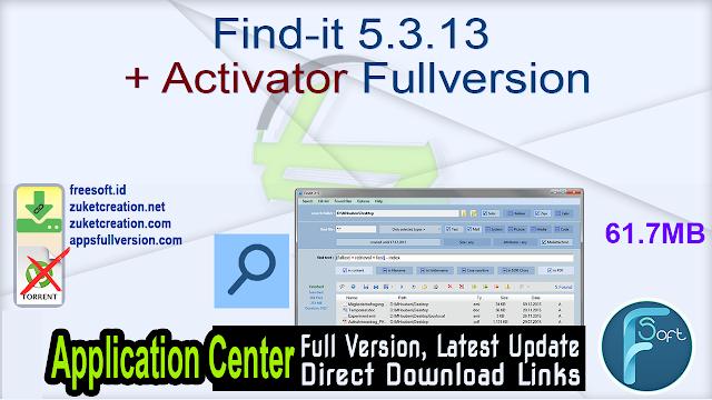 Find-it 5.3.13 + Activator Fullversion