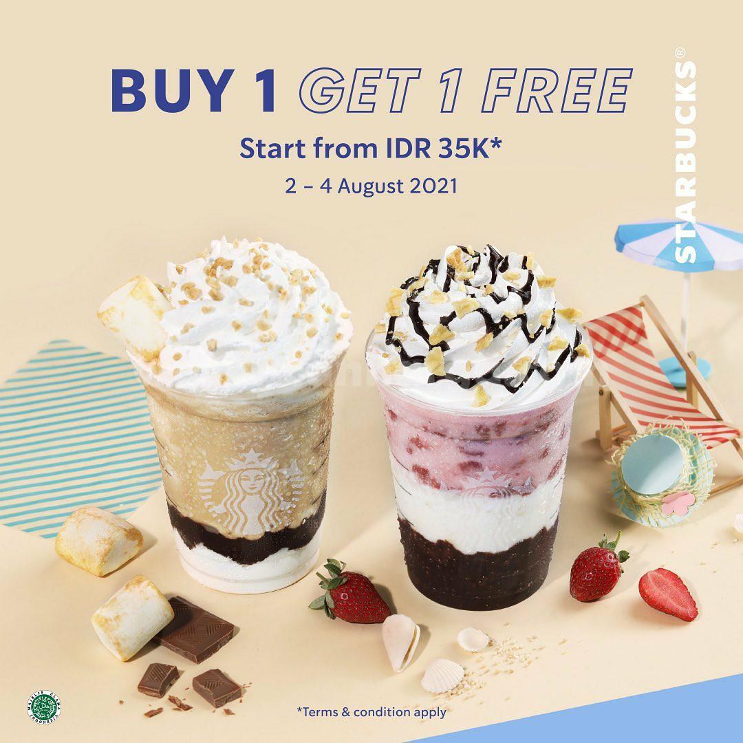 Starbucks Promo Buy 1 Get 1 Free*