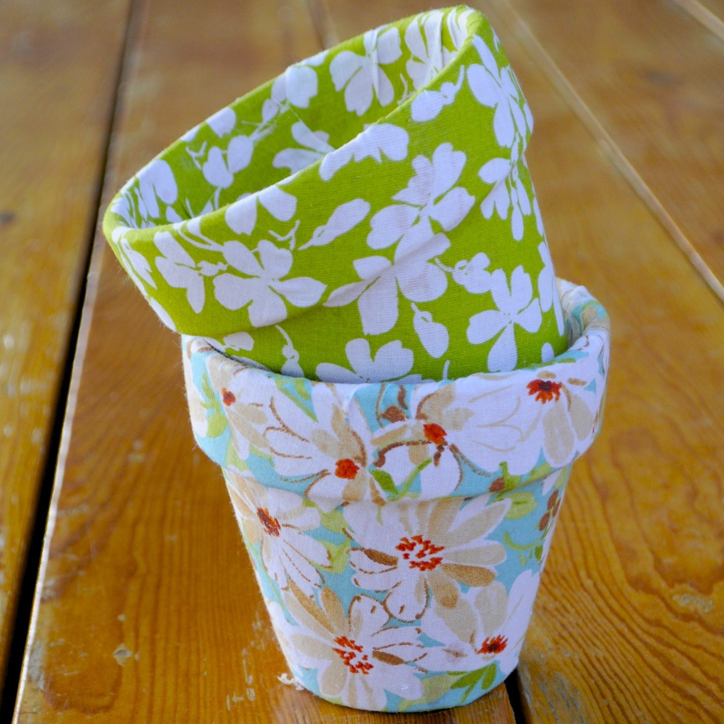 Little Sloth Fabric Flower Pots Diy - Blumentopf Dekorieren
