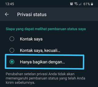 Cara Menyembunyikan Status Whatsapp 8