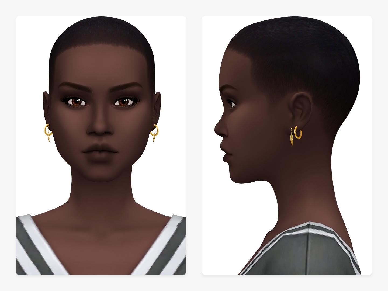Hoops Leaves Sims 4 CC Earrings