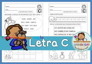 Atividades de alfabetização, atividades do alfabeto, Letra C, para imprimir, Atividades de 1º ano,