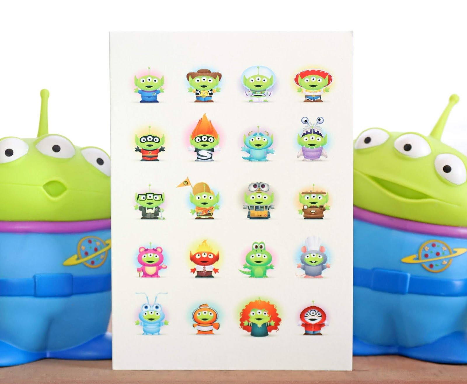 jerrod maruyama pixar studios little green men card toy story