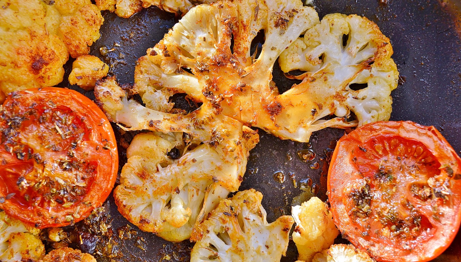 Roasted Cauliflower with Paprika and Oregano