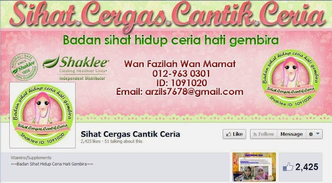 Tempahan  Design Facebook Timeline Cover : FB Sihat.Cergas.Cantik.Ceria