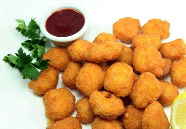 Corn nuggets or cheese corn balls