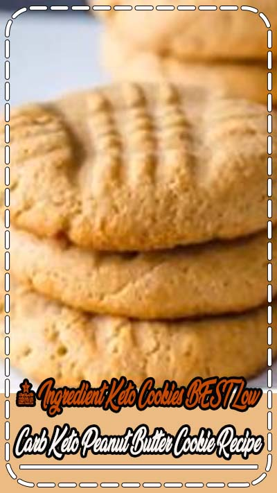 Keto Cookies! AMAZING ketogenic diet cookies - Easy 4 ingredient peanut butter low carb cookies. BEST keto dessert, keto snack or keto breakfast idea. Try these simple & quick homemade keto cookies 4 ingredient peanut butter. Gluten free, sugar free, healthy keto cookie recipe. Great sweet & savory treat for a low carb diet. Great on the go snack idea or make ahead after meal idea. #lowcarb #keto Check out the BEST keto #cookie recipe