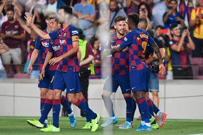 ملخص واهداف برشلونة واساسونا 2-2 (الاهداف كاملة) برشلونة يهبط من جديد