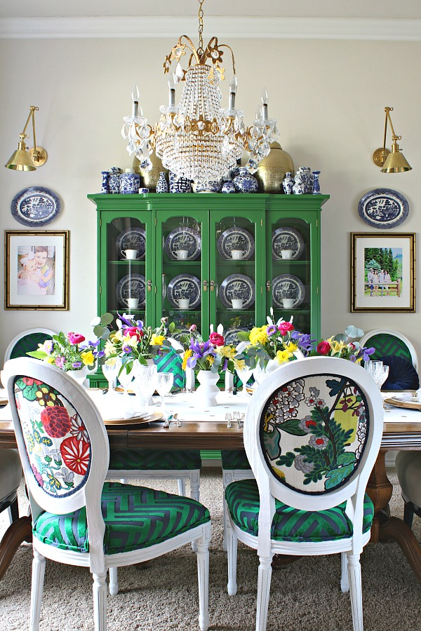 grocery store flowers, easter table, dining room table