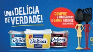 Promoção Margarina Delícia 2021 Ganhe Utensílios de Cozinha - Uma Delícia de Verdade