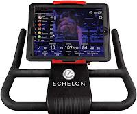 Echelon Smart Connect EX1 Spin Bike's adjustable handlebars & 180 degree adjustable tablet holder, image