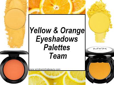 Yellow & Orange Eyeshadows Palettes Available On The Market