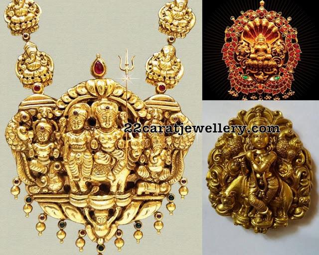 Lord Shiva Krishna and Lakshmi Pendants