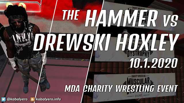 The Hammer vs Drewski Hoxley! MDA Charity Wrestling Event 2020 [Second Life Wrestling]