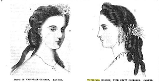 """Waterfall Chignon"" from Frank Leslie's, 1865"