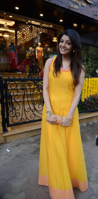 Kajal Agarwal in Yellow Salwar Kameez
