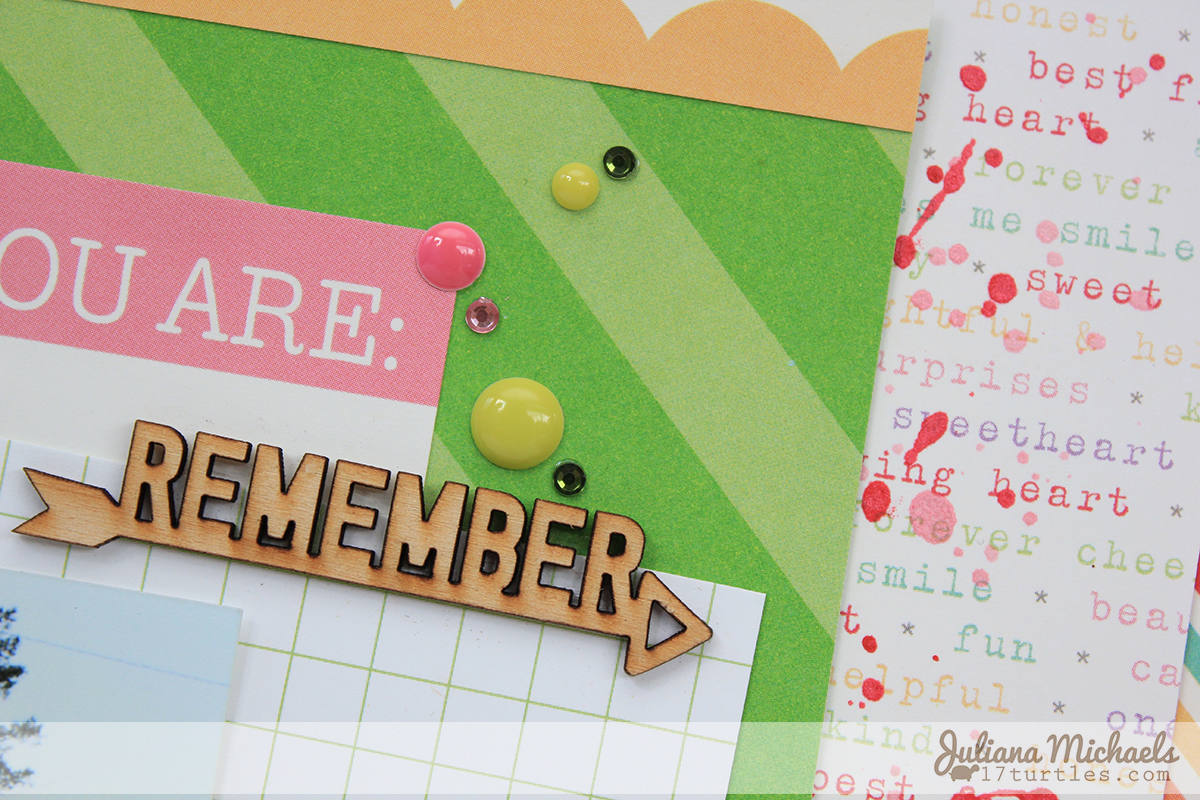 March Scrapbook Page detail by Juliana Michaels for Elle's Studio