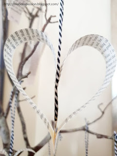 Bookpage Heart Decorations