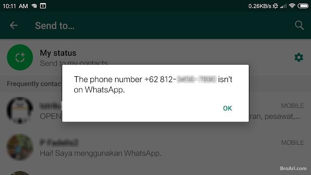 Cara Mengirim WA Tanpa Menyimpan Nomor