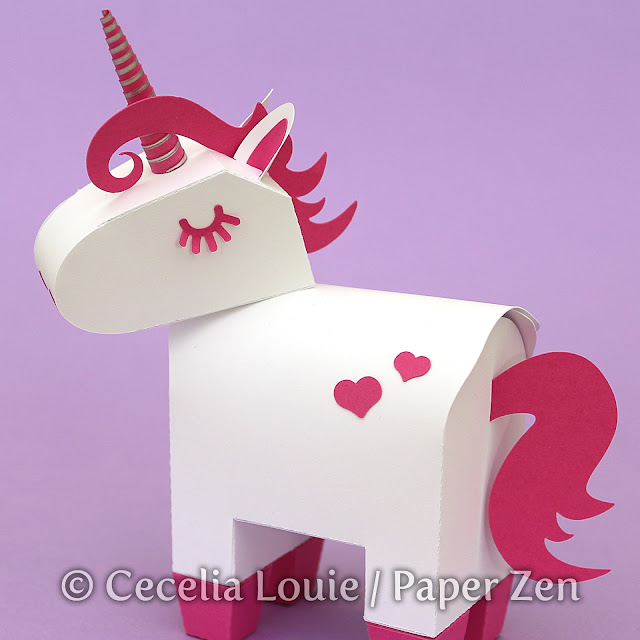 Mini Unicorn Party Favor Gift Box - Candy