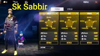 Sk Sabbir Boss Free Fire Id ,Lifetime Stats, His Youtube Channel....