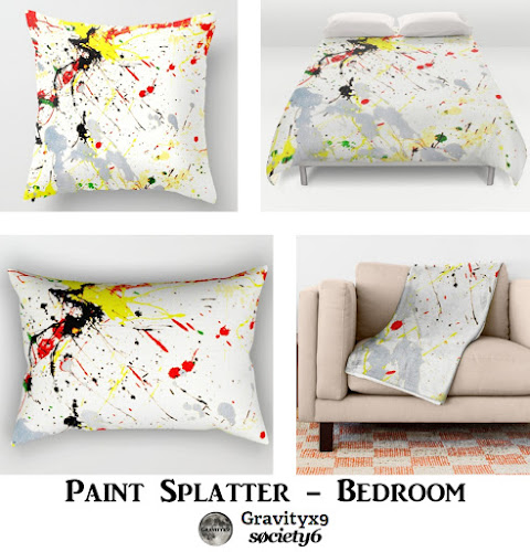 .: Paint Splatter Bedroom Decor At Society6