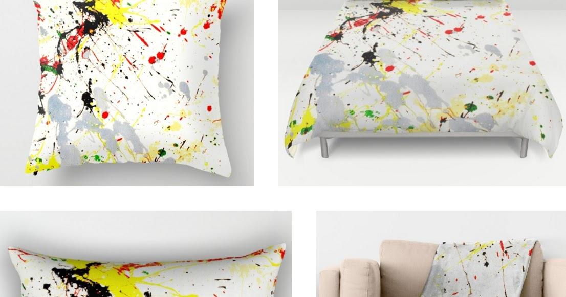 Paint Splatter Bedroom Decor At Society6