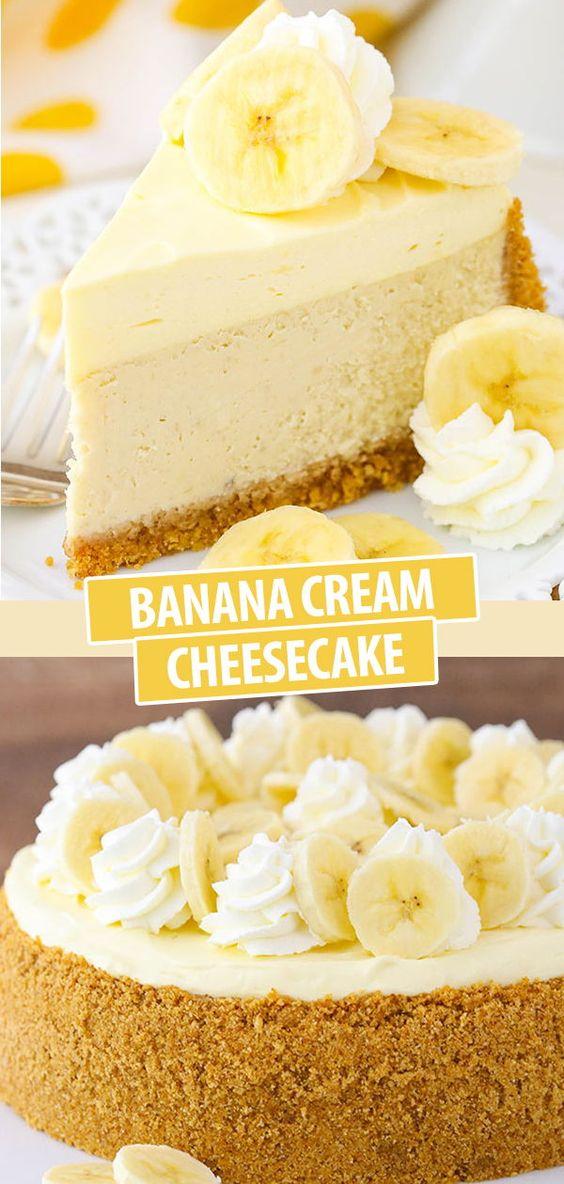 Amazing Banana Cream Cheesecake Recipe