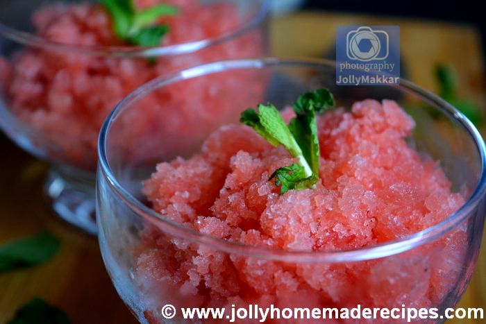 How to make Watermelon Granita Recipe
