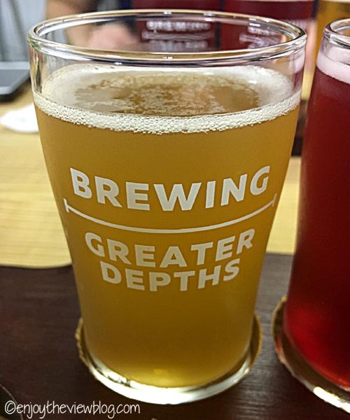 Sublime Key Lime at Deep Brewing in Tallahassee is delicious! #adventuresofgusandkim #travelover50 #wheretodrinkinTallahassee #enjoytheviewblogtravel #craftbeer