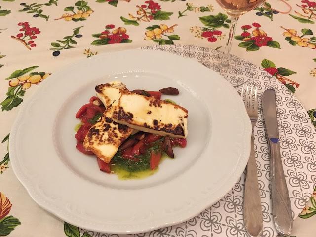 Sültpaprika saláta grillsajttal 117/1.