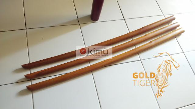 KIMU Collections: Gold Tiger Bokken (Pedang Kayu Sawo)