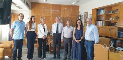 Συναντήσεις του πρόεδρου των  «Special Olympics Hellas» με Θ. Βασιλόπουλο και Στ. Αναστασόπουλο