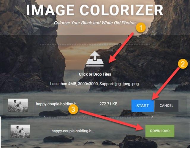 image colorizer tool per colorare le foto