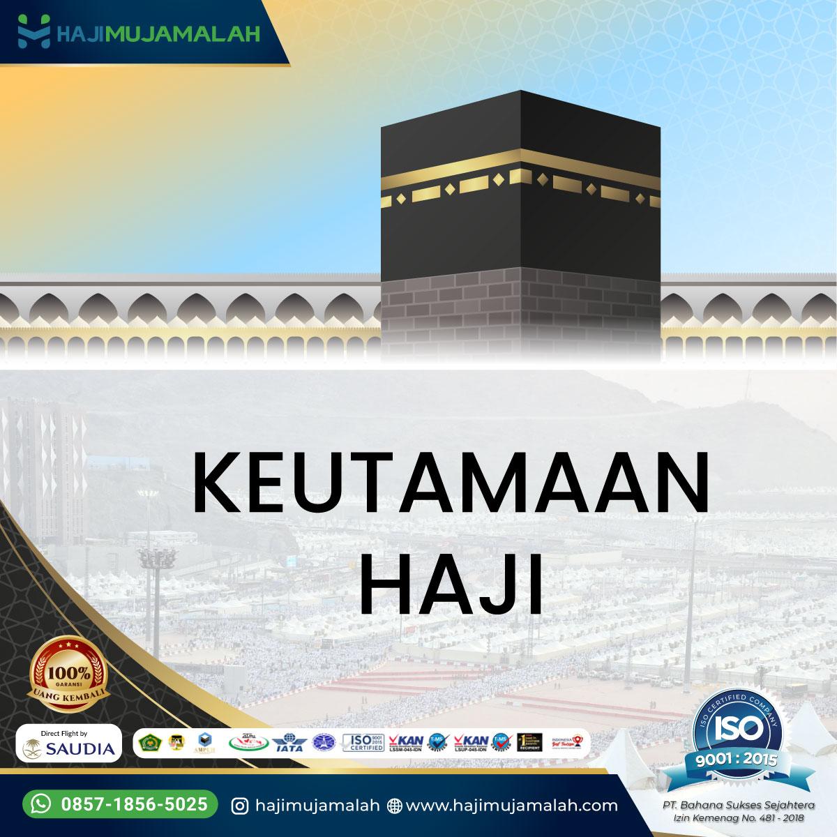Bekal Haji Keutamaan Haji