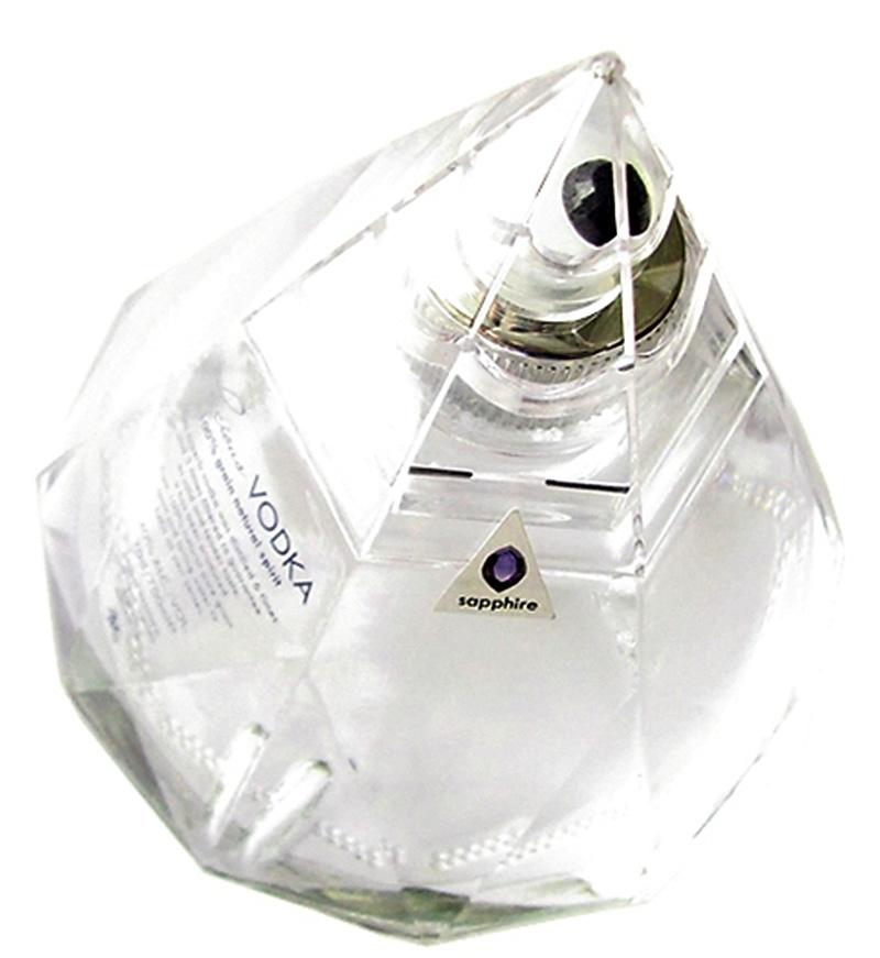 sapphire in vodka bottle