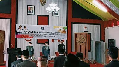 Penyegaran, Muslimin Bando Lantik 34 Pejabat Administrator, Pengawas dan Fungsiona