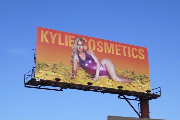 Kylie Cosmetics bananas billboard