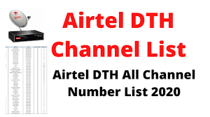 Airtel DTH Channel Number List