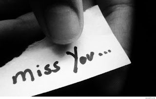 peace of white paper with miss you note