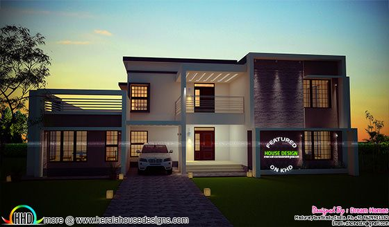 340 Sq M 3 Bedroom Home Plan Kerala Home Design And
