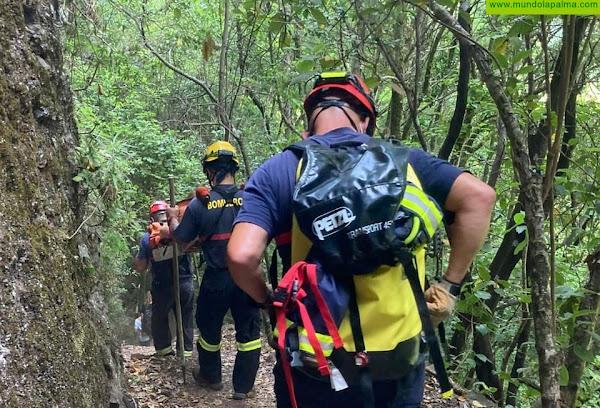 Rescate ayer de una senderista en Marcos y Cordero