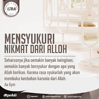 Mensyukuri Nikmat Dari Alloh - Qoutes - Kajian Islam Tarakan