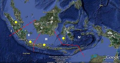 gambaran wilayah bagian zona dari Pelabuhan Indonesia